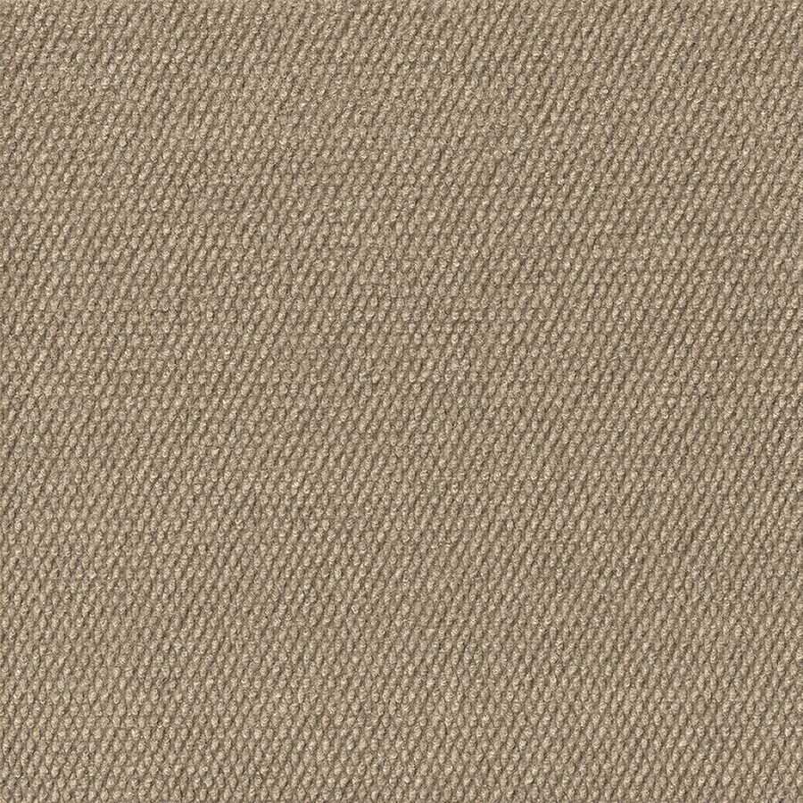 16-Pack 18-in x 18-in Pebble Taupe Indoor/Outdoor Needlebond Peel-and-Stick Carpet Tile