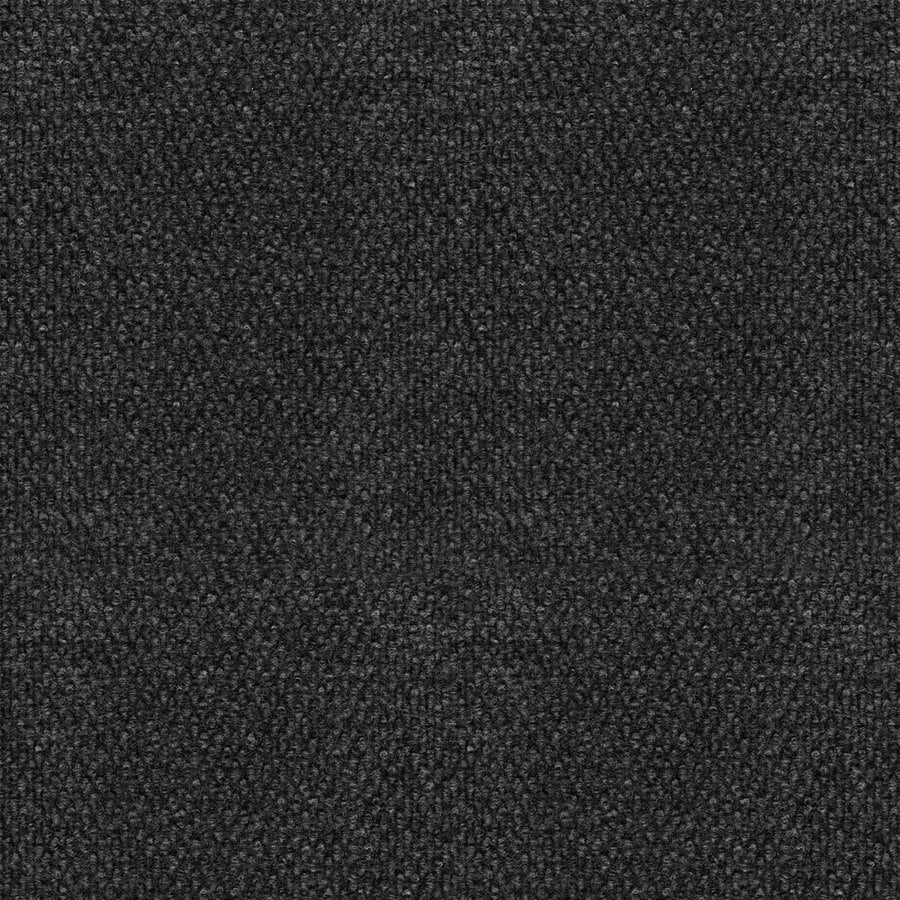 16-Pack 18-in x 18-in Pebble Black Indoor/Outdoor Needlebond Peel-and-Stick Carpet Tile