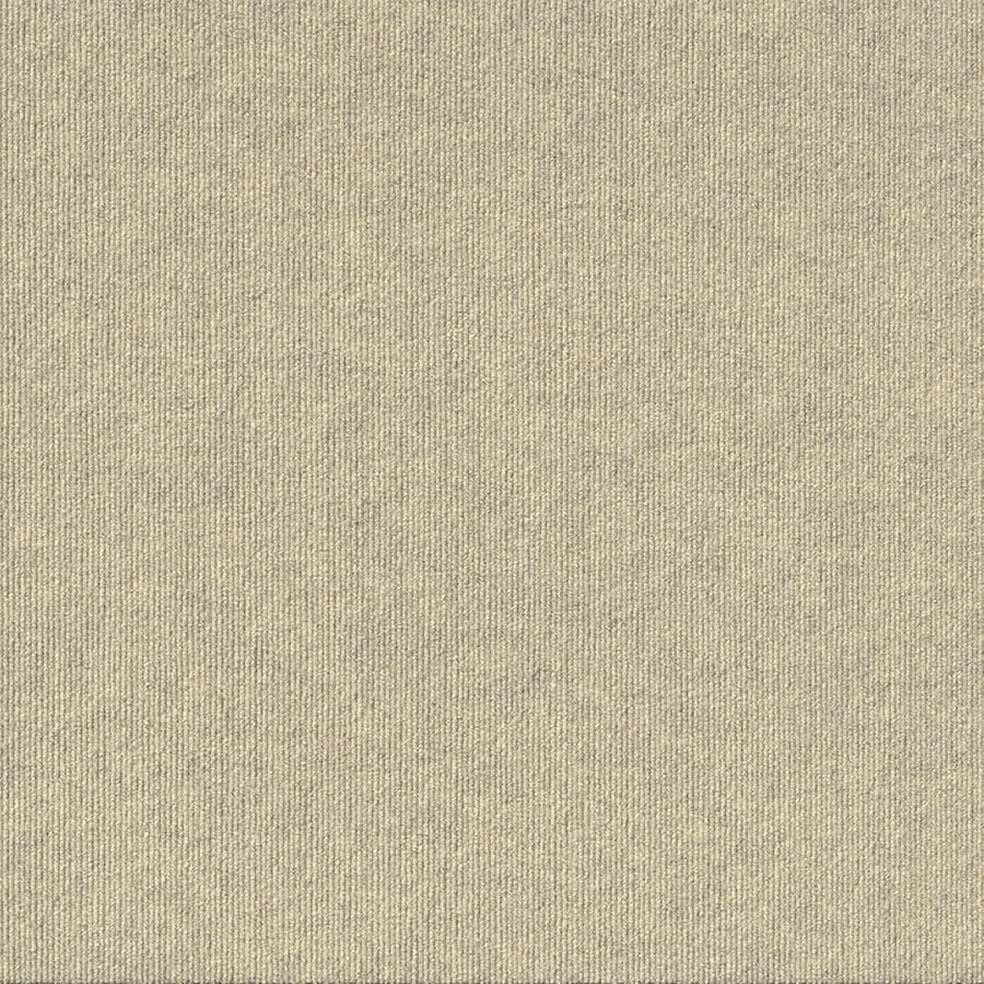 Contour Rib 15-Pack 24-in x 24-in Ivory Indoor/Outdoor Needlebond Peel-and-Stick Carpet Tile