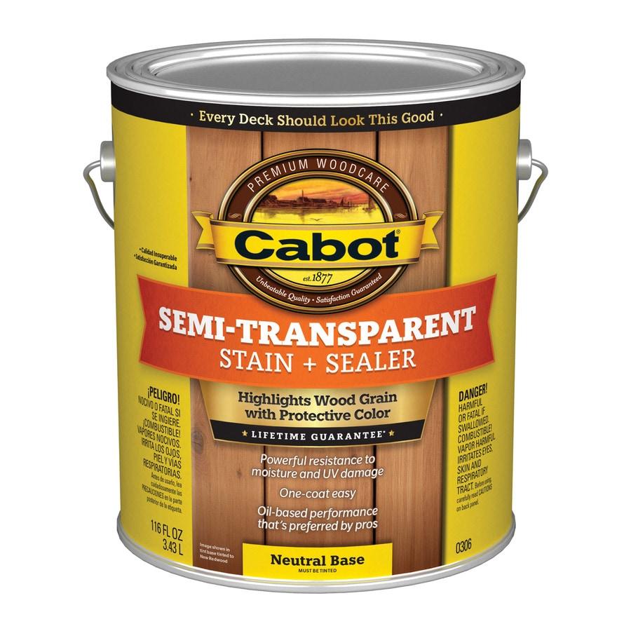 Cabot Semi-Transparent Exterior Stain (Actual Net Contents: 116-fl oz)