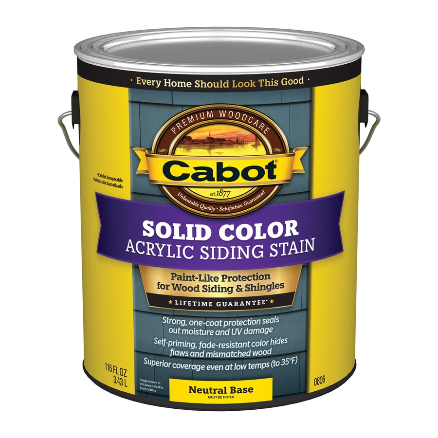 Cabot Tintable Solid Exterior Stain (Actual Net Contents: 116-fl oz)