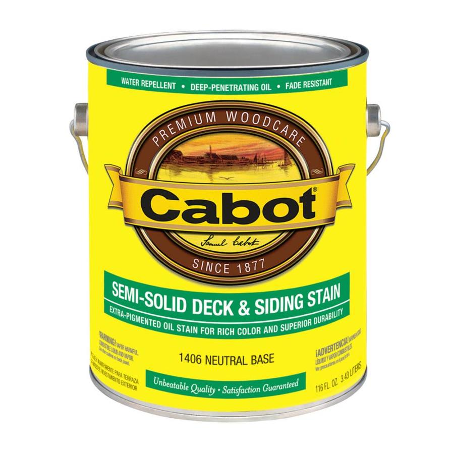Cabot Tintable Semi-Transparent Exterior Stain (Actual Net Contents: 116-fl oz)