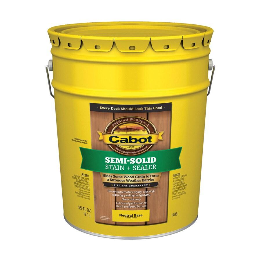 Cabot Tintable Semi-Transparent Exterior Stain (Actual Net Contents: 580-fl oz)