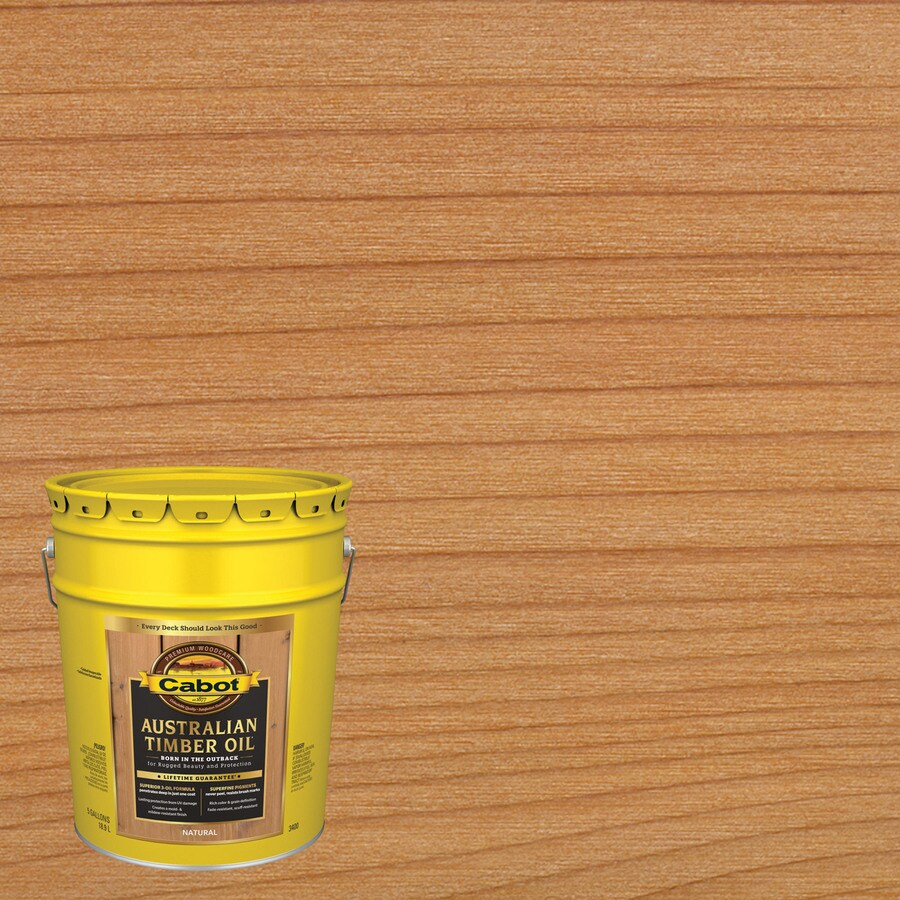 Shop Cabot Australian Timber Oil Transparent Exterior Stain Actual Net Contents 640 Fl Oz At