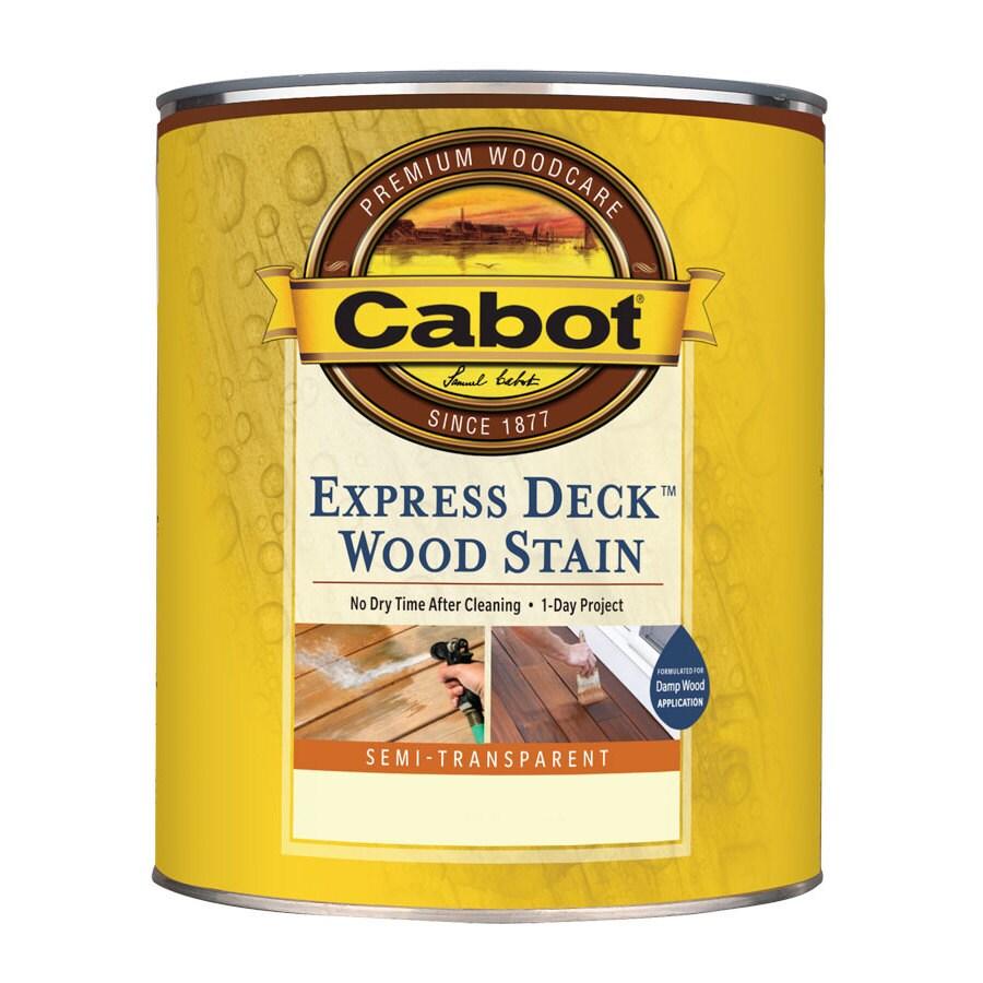 Cabot Express Deck Tintable Semi-Transparent Exterior Stain (Actual Net Contents: 116-fl oz)