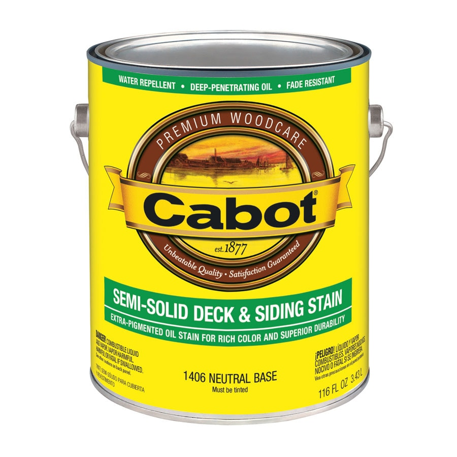 Cabot Tintable Neutral Base Semi-Solid Exterior Stain (Actual Net Contents: 116-fl oz)