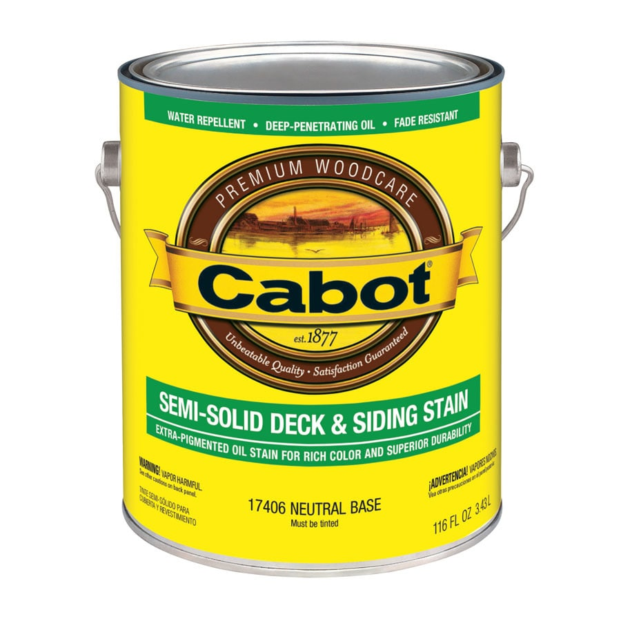 Cabot Tintable Neutral Base Semi-Solid Exterior Stain (Actual Net Contents: 116 Fluid Oz.)