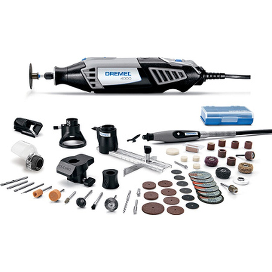 100 Pieces Rotary Tool Kit Accessories Dremel Set Variable Speed With Flex Shaft