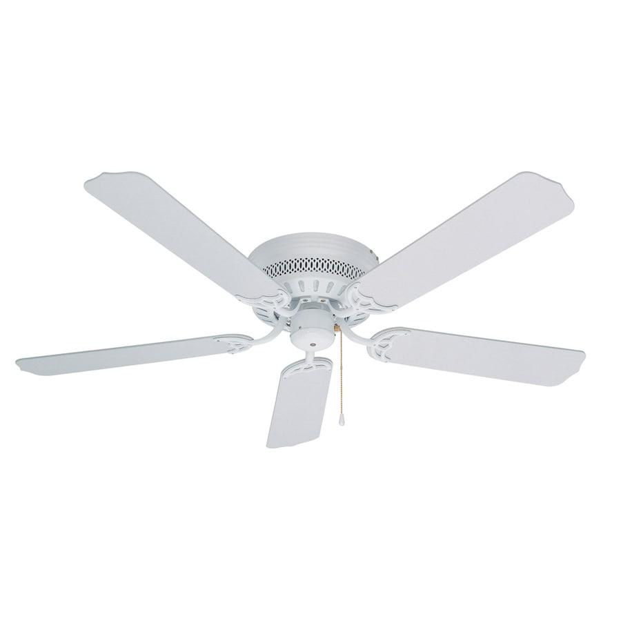 Litex Hugger 52-in White Flush Mount Ceiling Fan