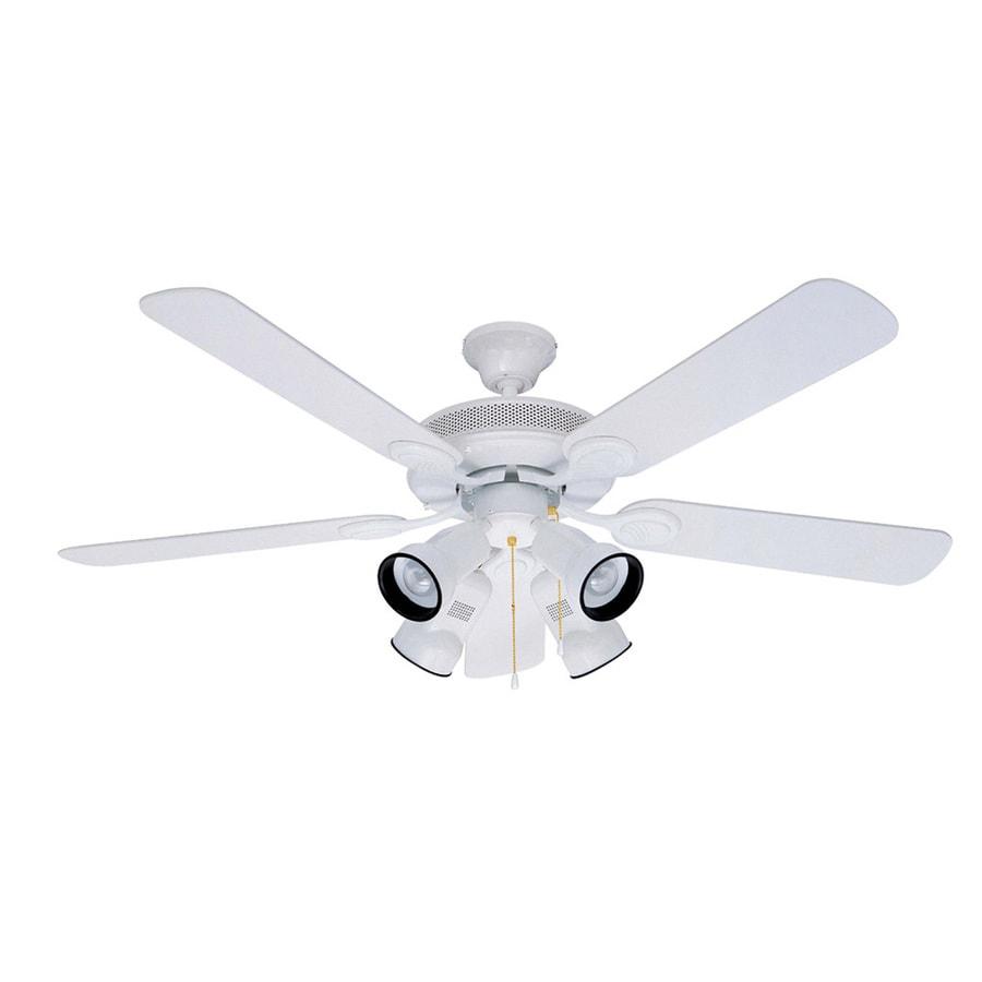 Litex 52-in Spotlight White Ceiling Fan with Light Kit