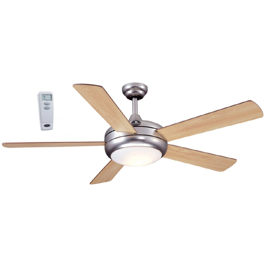 Harbor Breeze Aero 52-in Downrod Mount Ceiling Fan with Light Kit and Remote