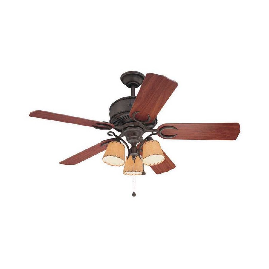 Harbor Breeze Austin 54-in Aged Iron Downrod Mount Indoor Ceiling Fan with Light Kit