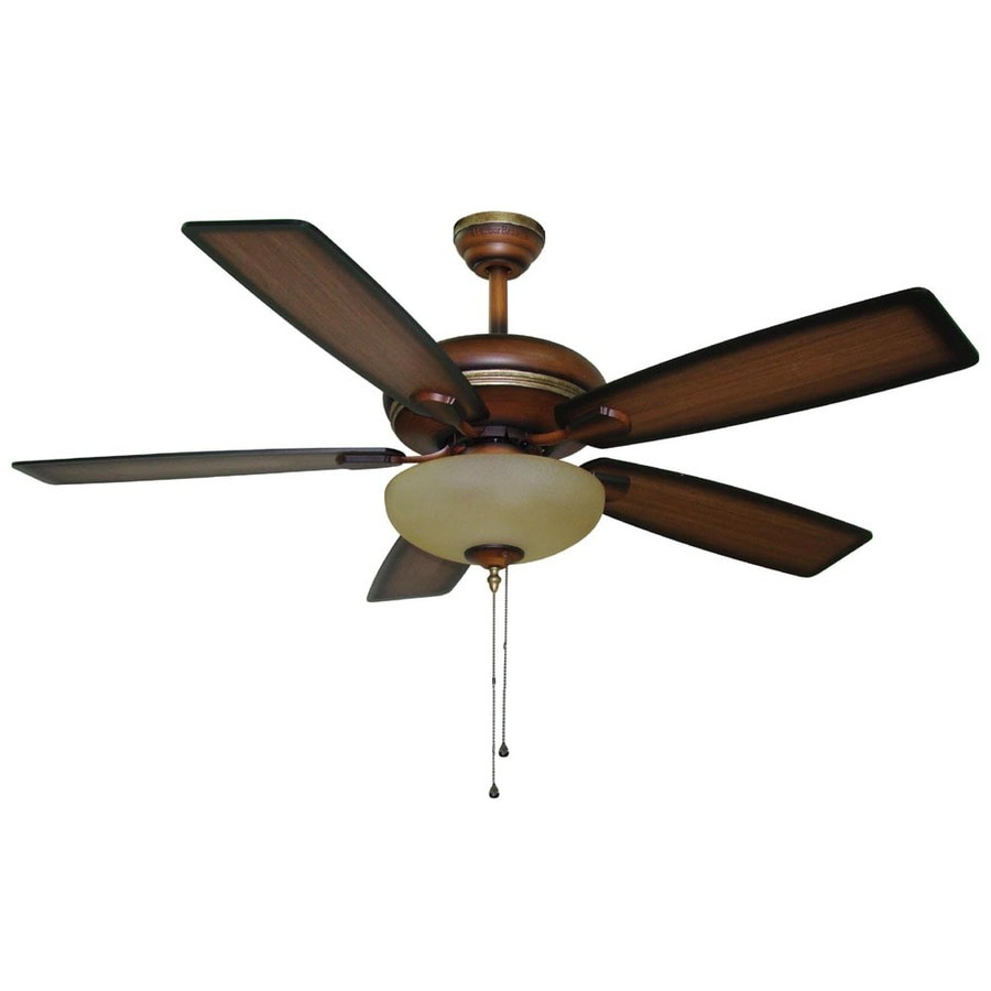 Harbor Breeze Cabrillo 52-in Walnut Downrod Mount Indoor Ceiling Fan with Light Kit