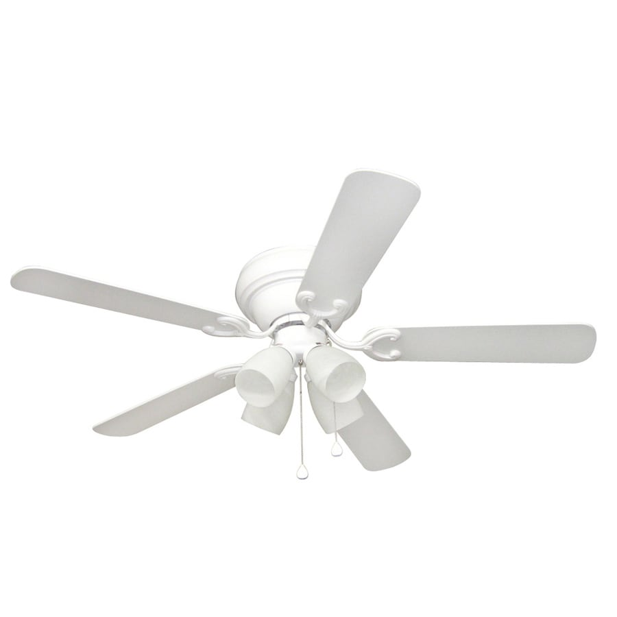 Harbor Breeze Cheshire II 52-in White Flush Mount Indoor Ceiling Fan with Light Kit