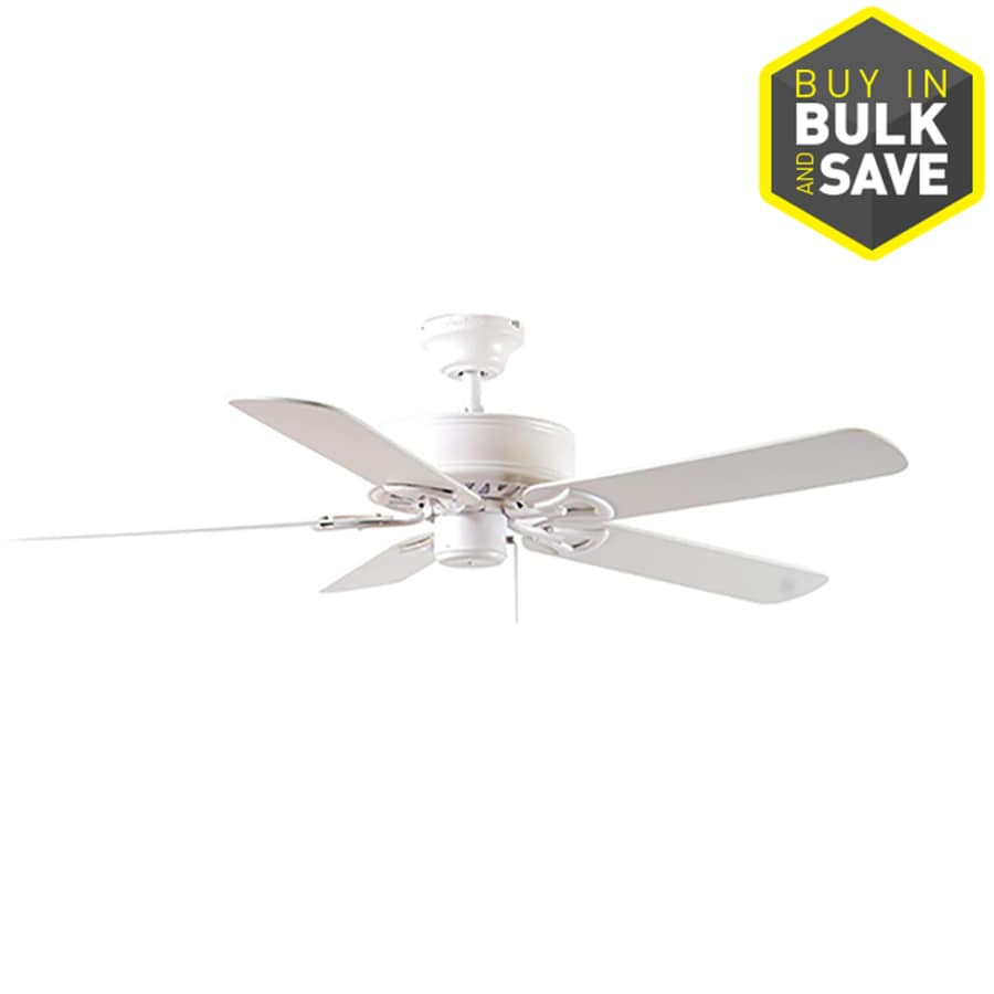 Harbor Breeze Classic 52-in White Downrod or Close Mount Indoor Ceiling Fan ENERGY STAR