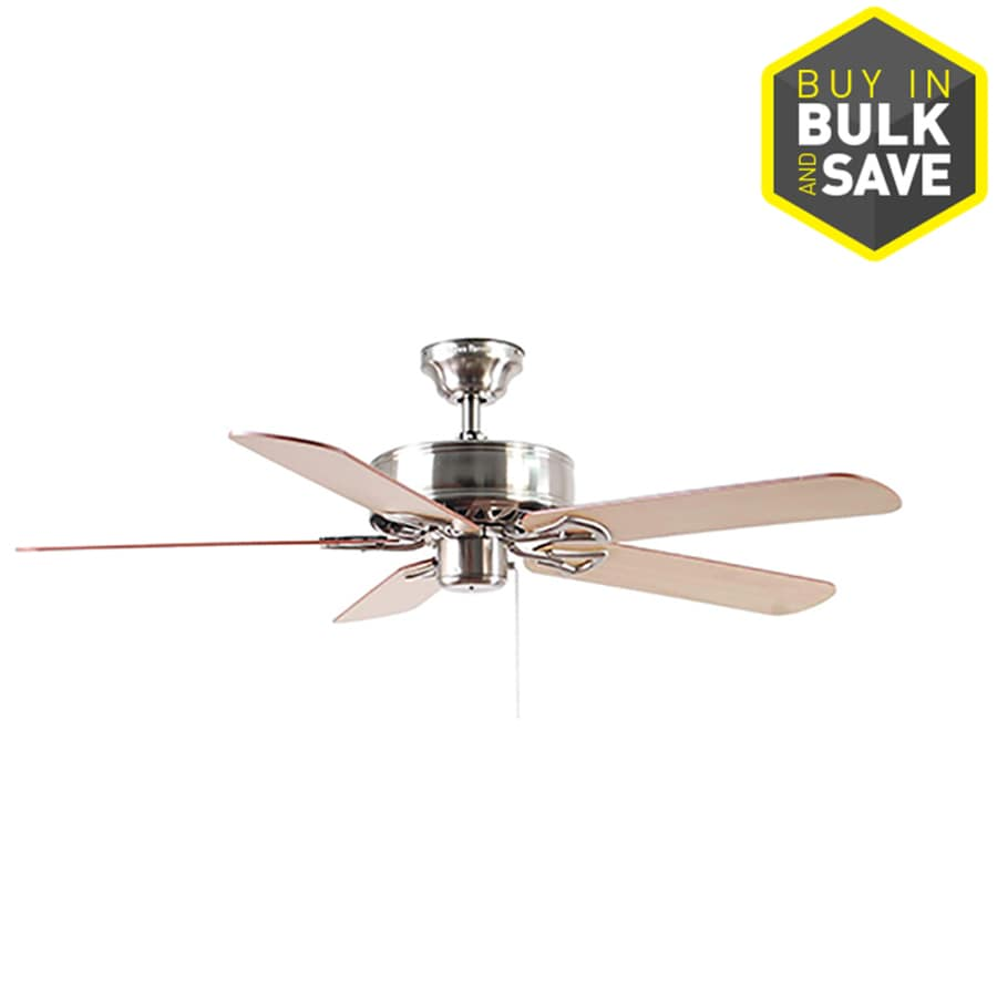 Harbor Breeze Classic 52-in Brushed Nickel Downrod or Close Mount Indoor Residential Ceiling Fan ENERGY STAR
