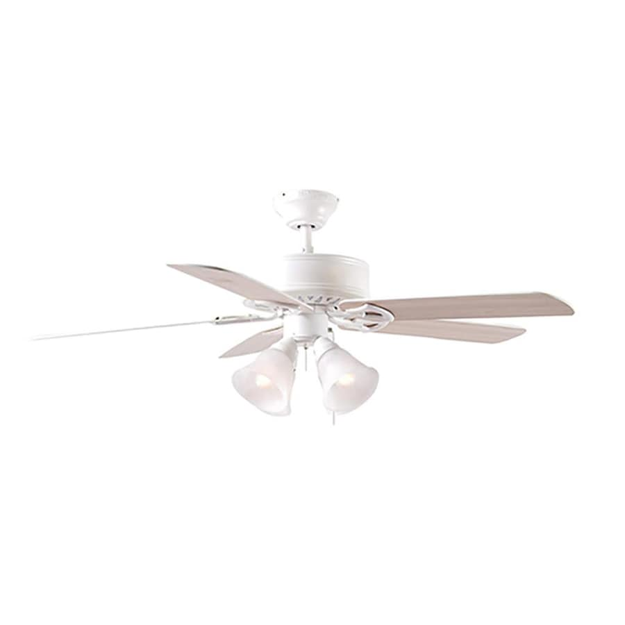 Harbor Breeze Springfield II 52-in White Downrod or Close Mount Indoor Residential Ceiling Fan with Light Kit