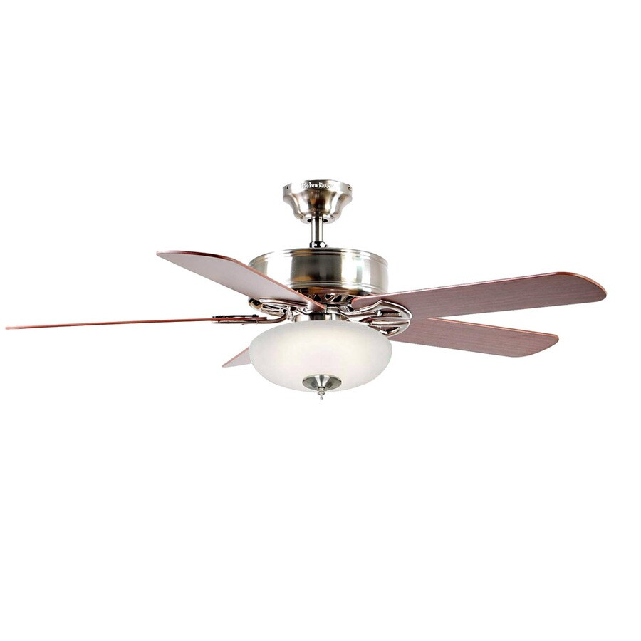 Harbor Breeze Beladora 52-in Brushed Nickel Multi-Position Indoor Ceiling Fan with Light Kit