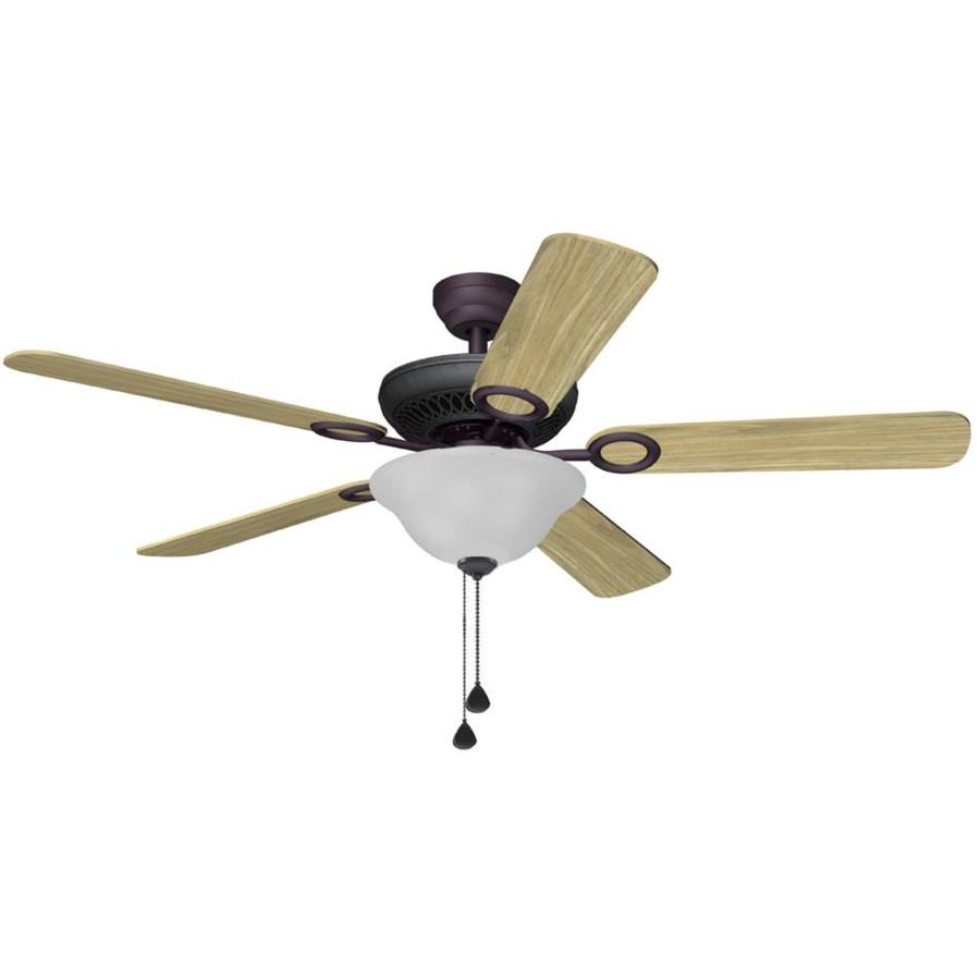 Harbor Breeze Ferry Run 52-in Bronze Downrod or Close Mount Indoor Ceiling Fan with Light Kit