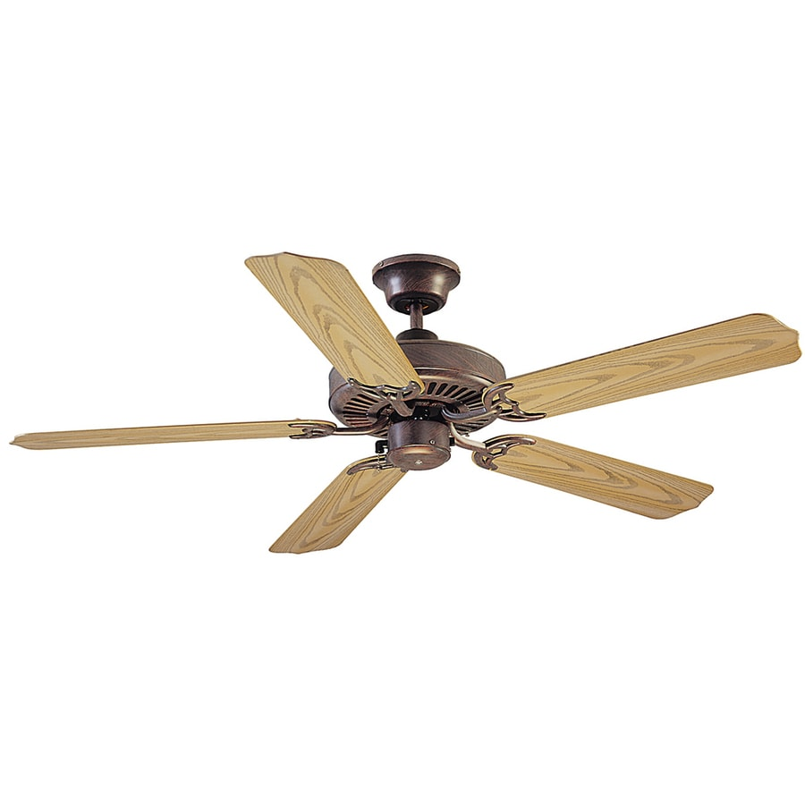 Litex All Weather 52-in Copperstone Outdoor Downrod or Flush Mount Ceiling Fan