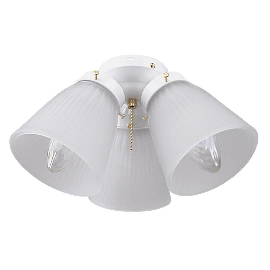 Harbor Breeze 3-Light White Ceiling Fan Light Kit with Bell Shade