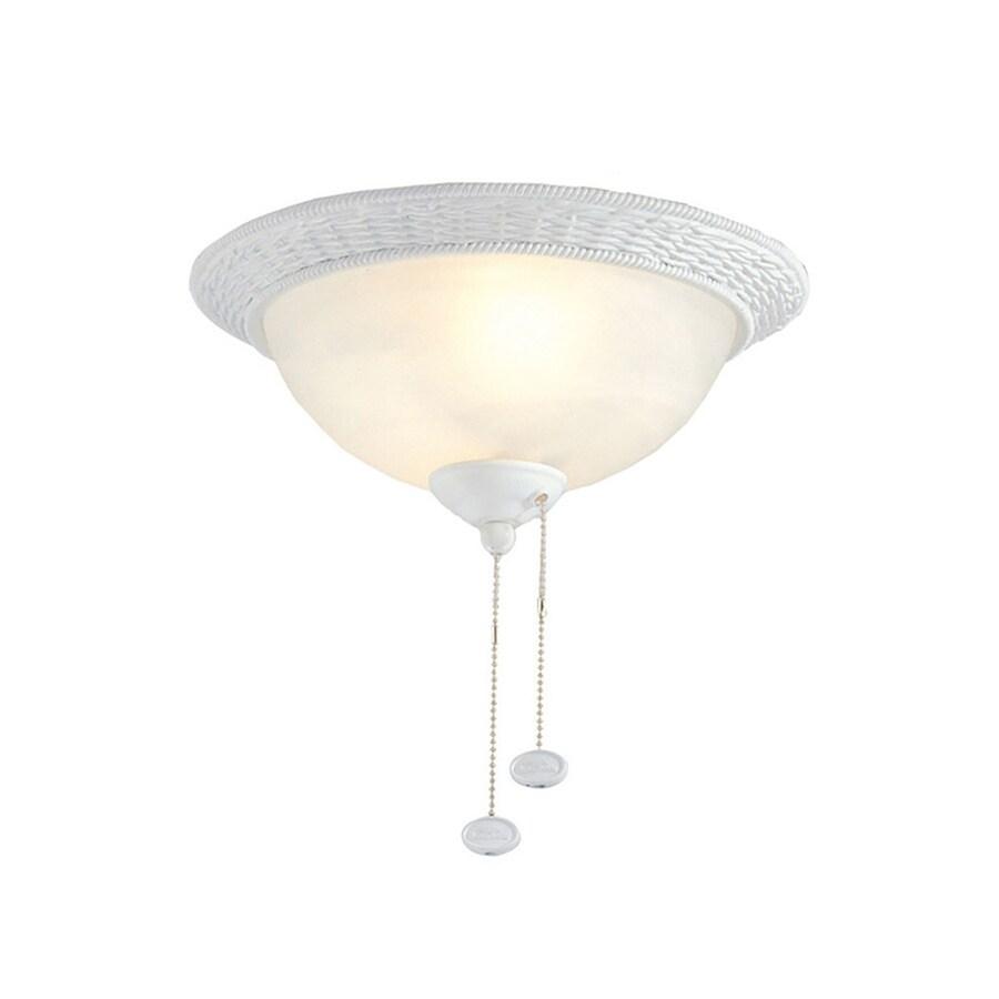 Harbor Breeze 2-Light Matte White Ceiling Fan Light Kit with Bowl Glass or Shade