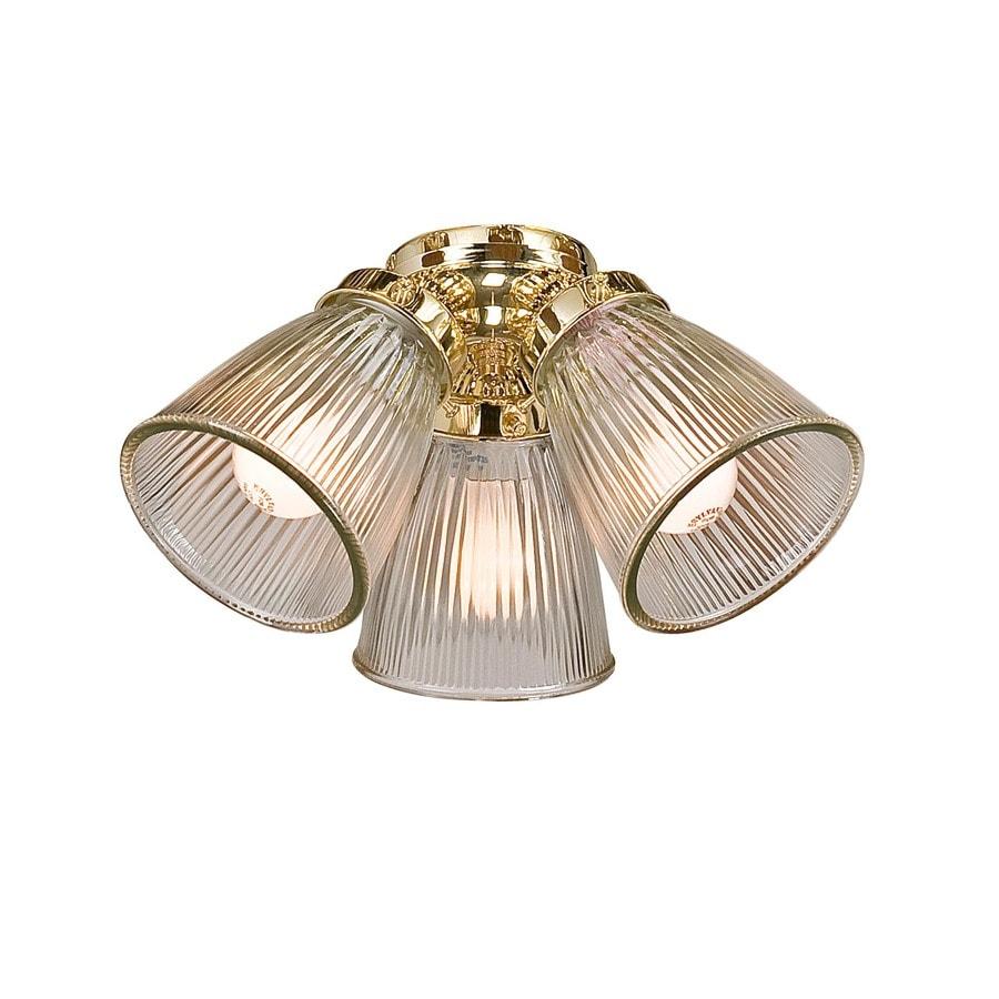 Harbor Breeze 3-Light Polished Brass Compact Fluorescent Ceiling Fan Light Kit
