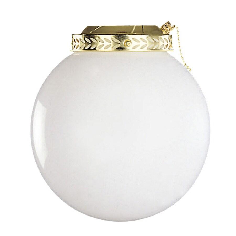 Litex Bright Brass Ceiling Fan Light Kit with Opal Schoolhouse Shade