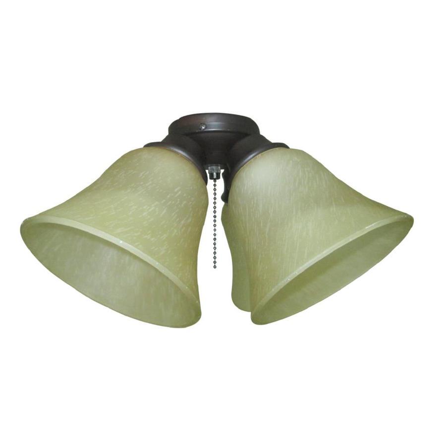 Harbor Breeze 4-Light Bronze Incandescent Ceiling Fan Light Kit with Alabaster Glass