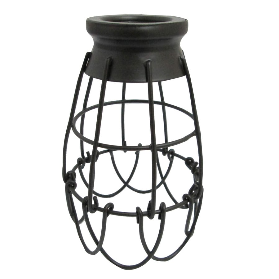 Portfolio 7.25-in H 4.62-in W French Bronze Wire Industrial Cage Pendant Light Shade