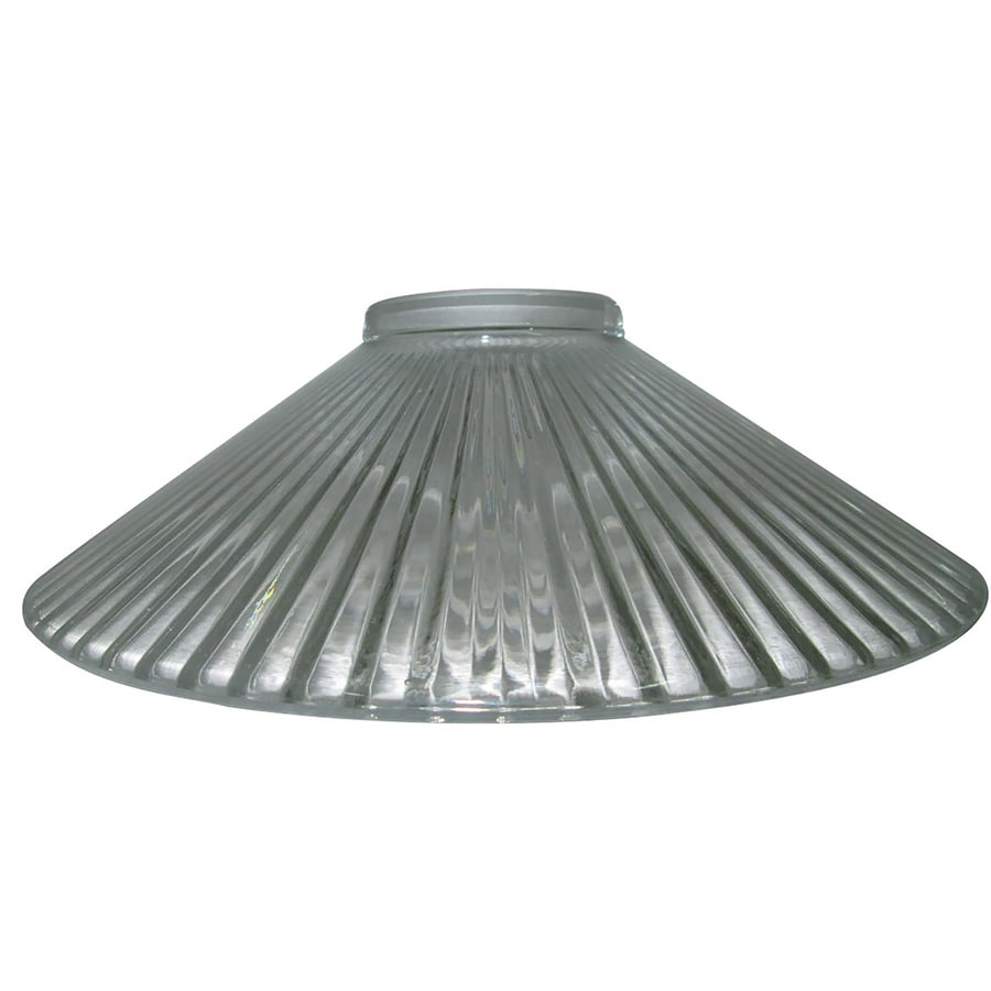 Portfolio 3.5-in H 10-in W Clear Ribbed Glass Cone Pendant Light Shade