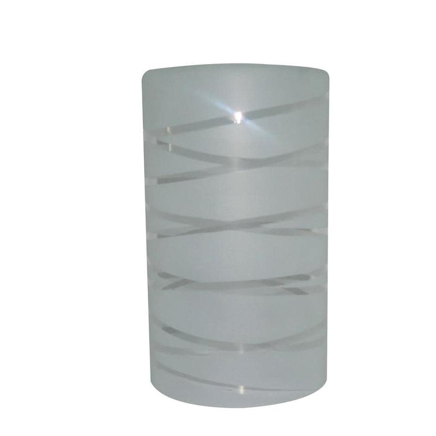 Portfolio 8-in H 4.75-in W Frost Cylinder Pendant Light Shade
