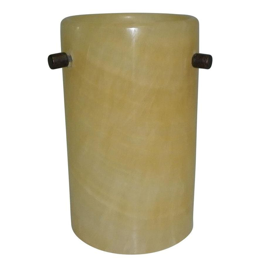 Portfolio 6.37-in H 4.37-in W Refined Stone Art Glass Cylinder Pendant Light Shade
