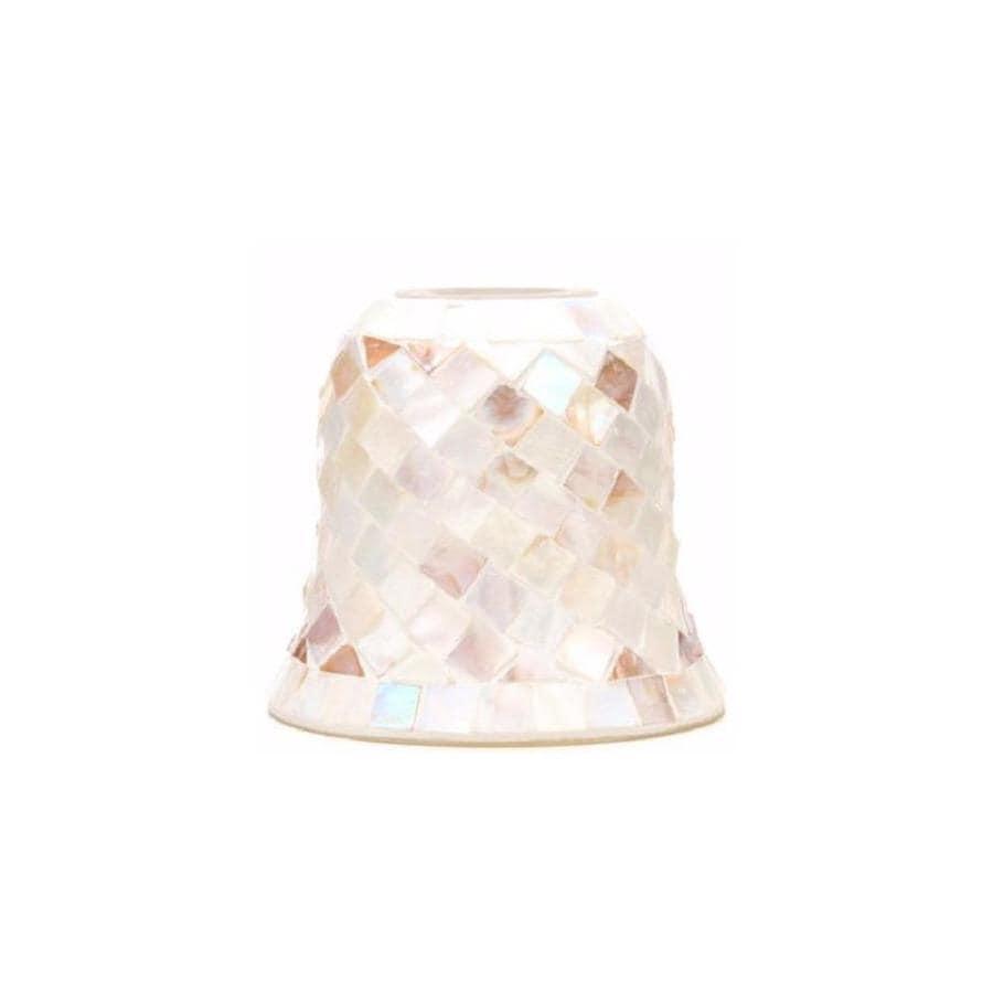 Portfolio 5.1-in H 5.75-in W Mosaic Art Glass Bell Pendant Light Shade