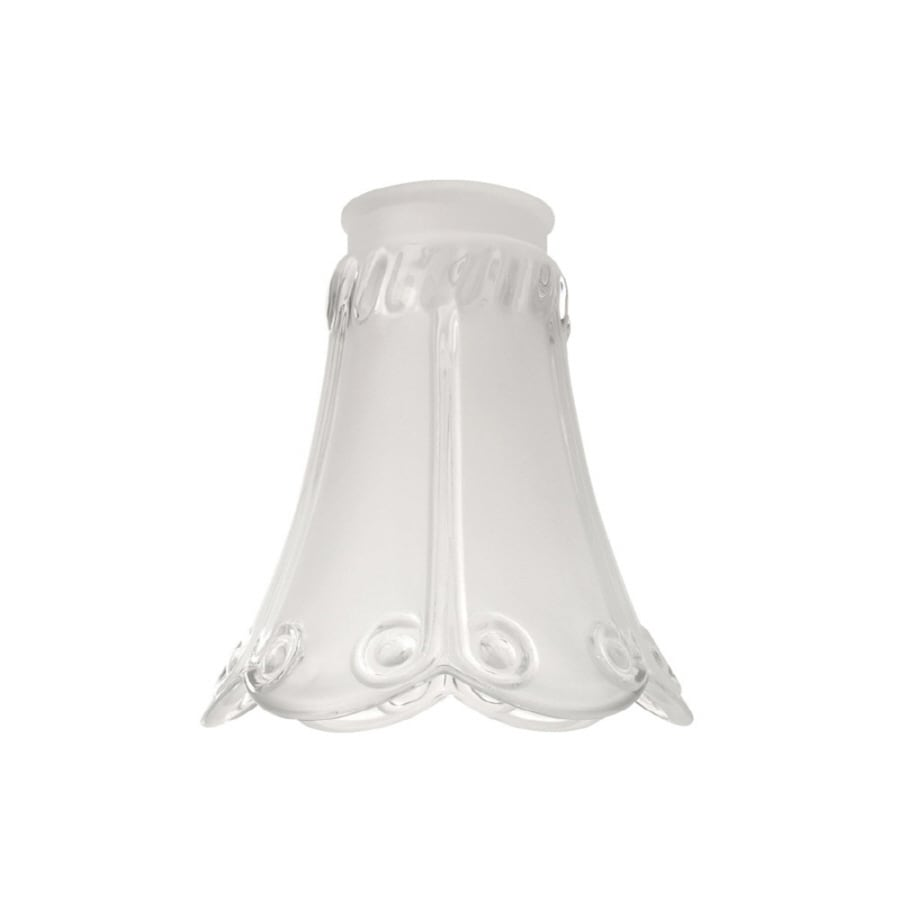 Litex 5.17-in H 4.8-in W Clear/Frosted Textured Glass Bell Vanity Light Shade