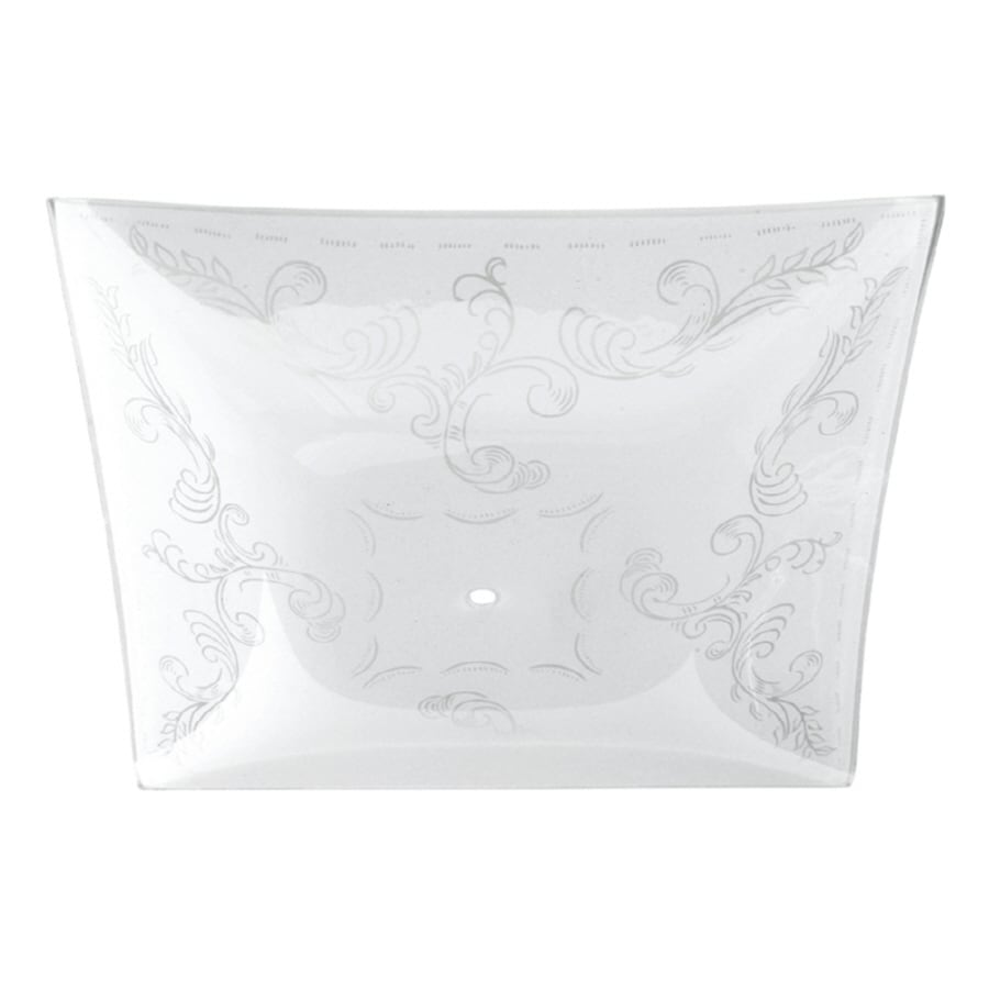 Litex 1.5-in H 12-in W White Frost Etched Glass Square Ceiling Fan Light Shade