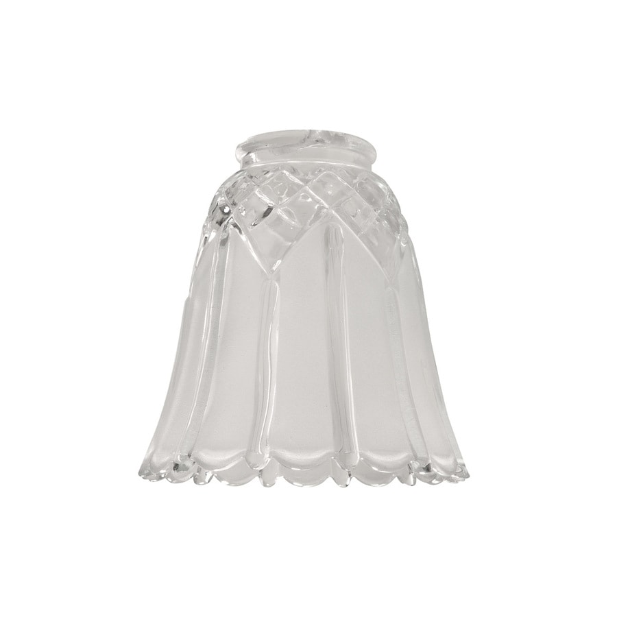 Portfolio 5.04-in H 5.04-in W Clear/Frosted Textured Glass Bell Vanity Light Shade