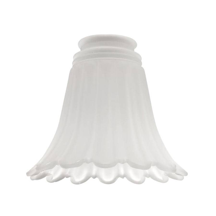 Harbor Breeze 5-in H 5.25-in W Frosted Ribbed Glass Bell Vanity Light Shade