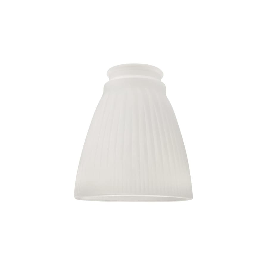 Shop Portfolio 4.76-in H 4.37-in W Frosted Ribbed Glass Bell Vanity Light Shade at Lowes.com