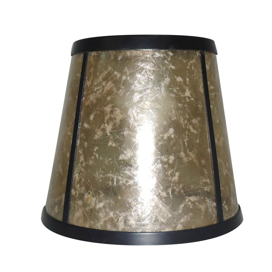 Portfolio 5.125-in H 6.25-in W Beige Mica Vanity Light Shade