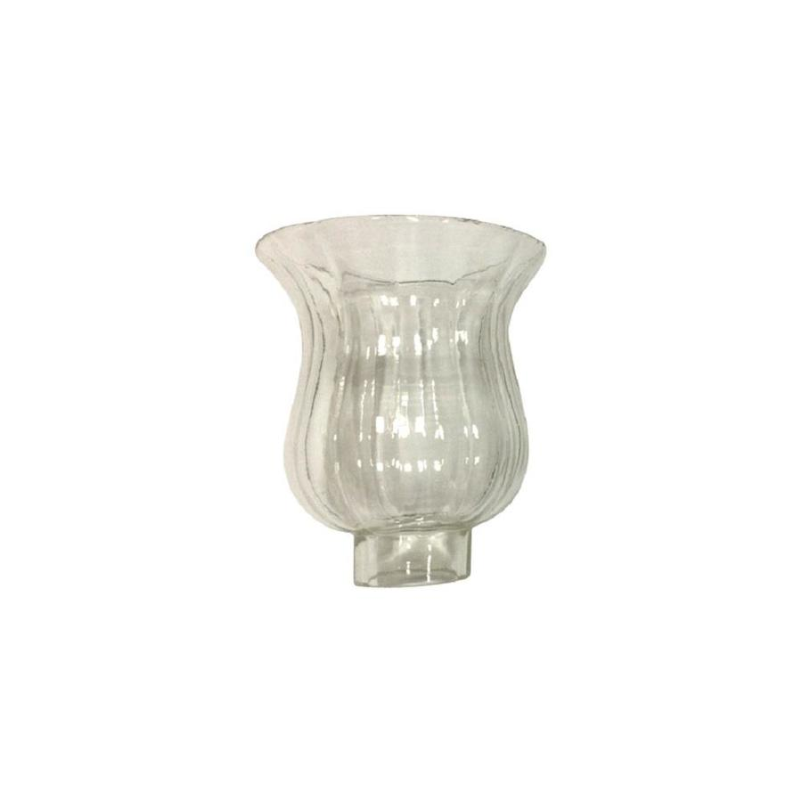 Litex 4.25-in H 4.25-in W Clear Clear Glass Bell Vanity Light Shade