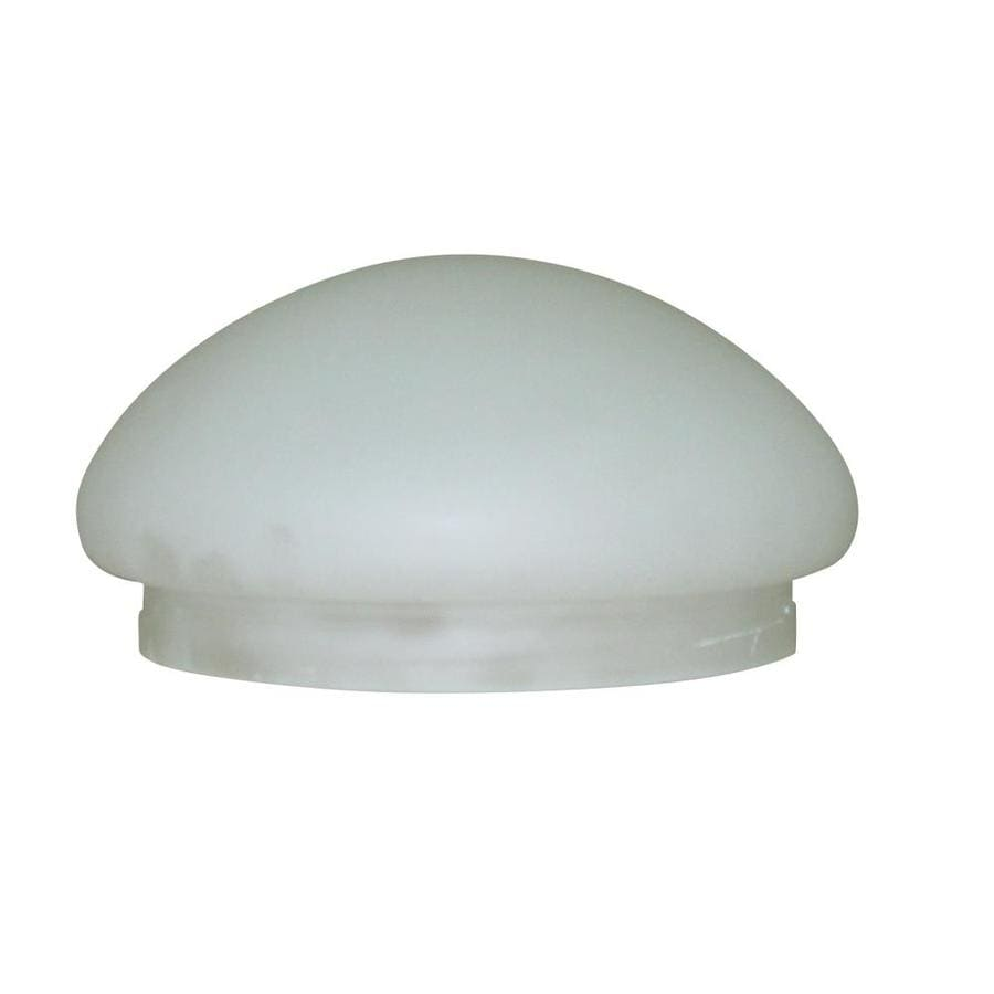 Shop Litex 3.75-in H 7.38-in W White Globe Ceiling Fan Light Shade at Lowes.com