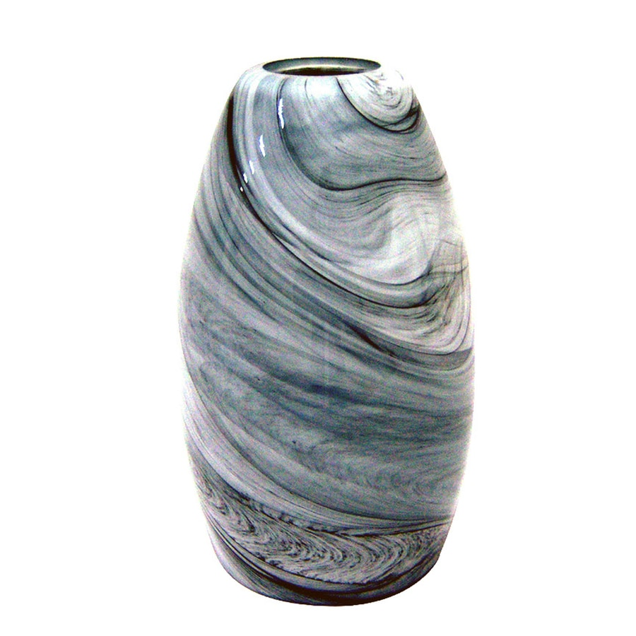 Portfolio 7.88-in H 4.75-in W Granite Storm Art Glass Cylinder Pendant Light Shade
