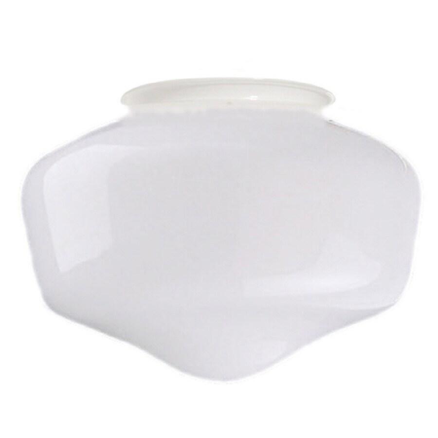 Litex 8-in H 8-in W Frost Opal Schoolhouse Ceiling Fan Light Shade