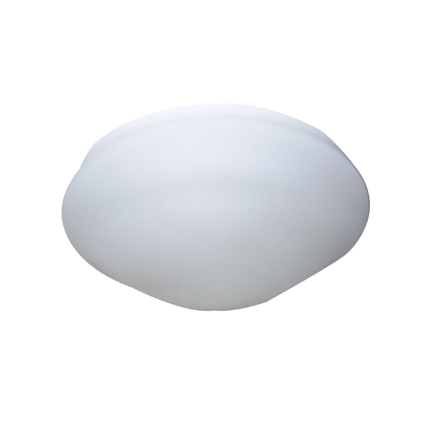 Litex 10.38-in H 10.38-in W Opal Globe Ceiling Fan Light Shade