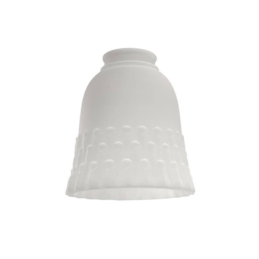 Harbor Breeze 5.25-in H 5-in W Frosted Sand Bell Vanity Light Shade