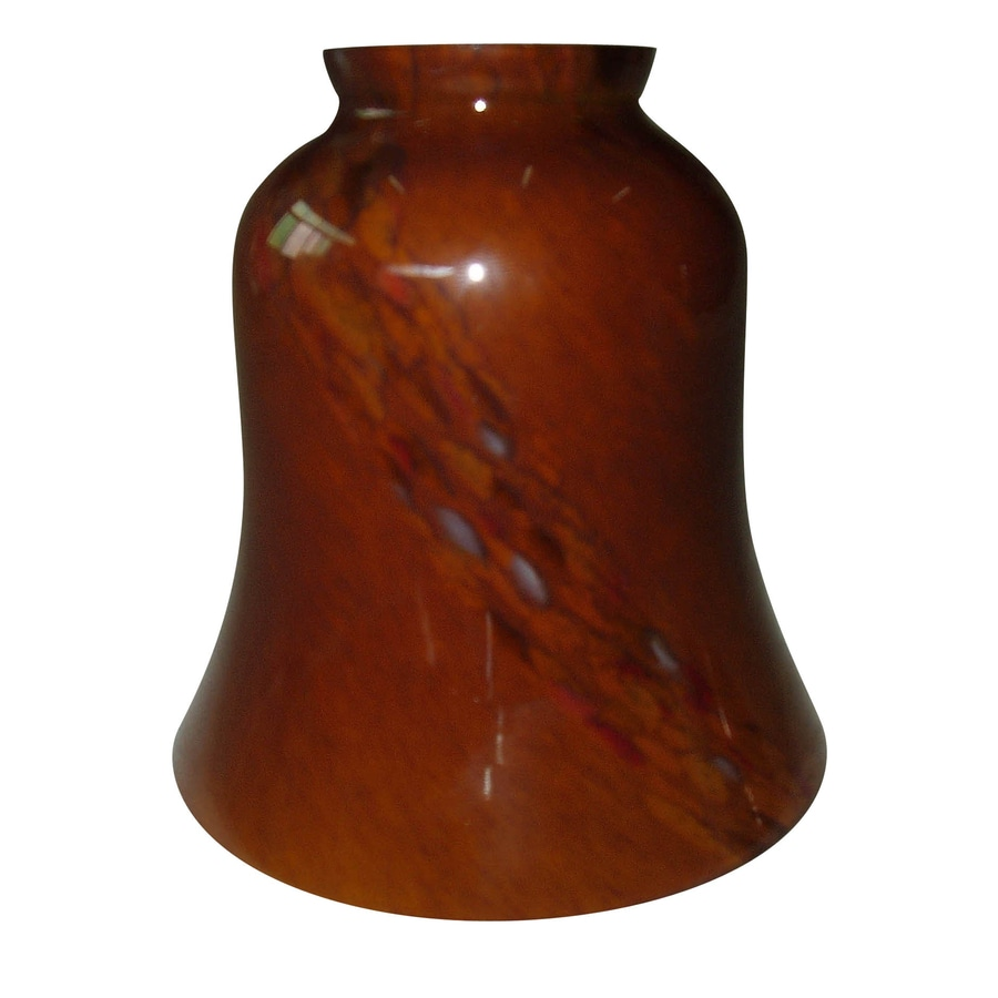 Shop Portfolio 5-in H 4.875-in W Red Brown Art Glass Vanity Light Shade at Lowes.com
