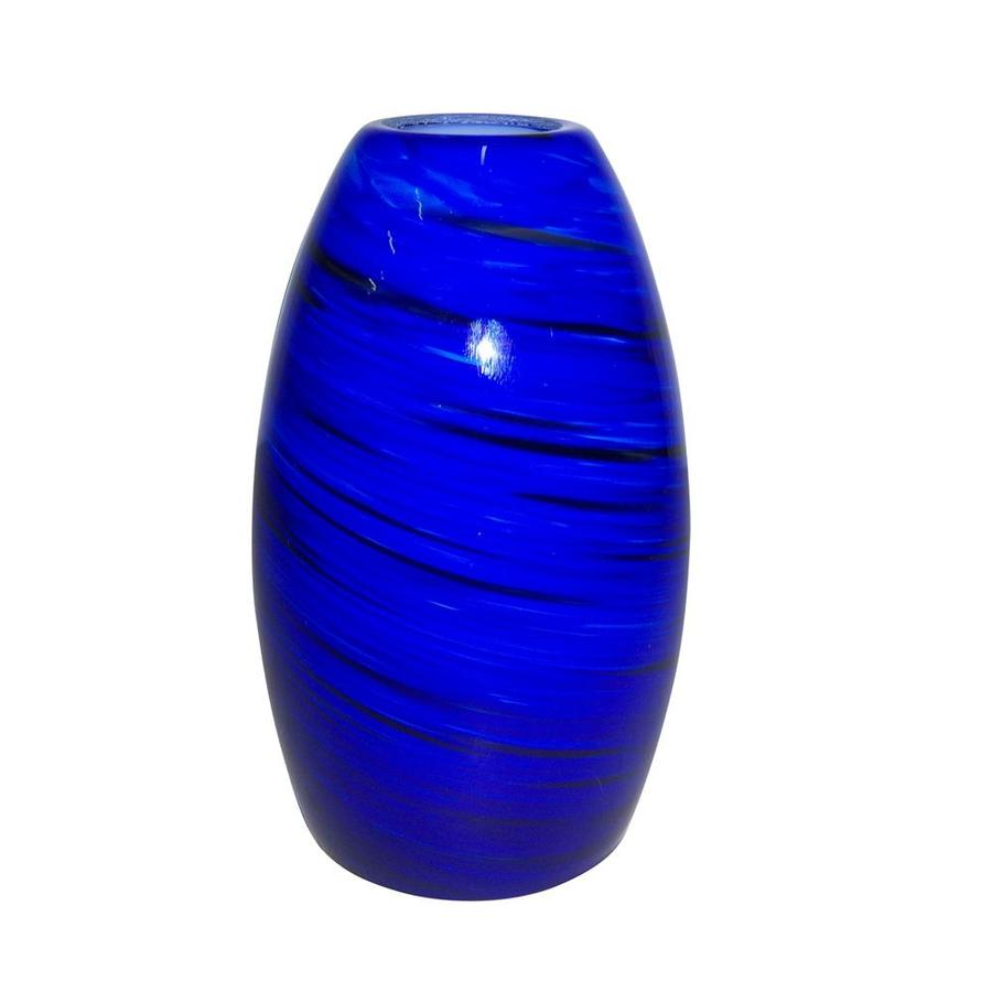 Portfolio 7.75-in H 4.63-in W Sapphire Fury Art Glass Pendant Light Shade
