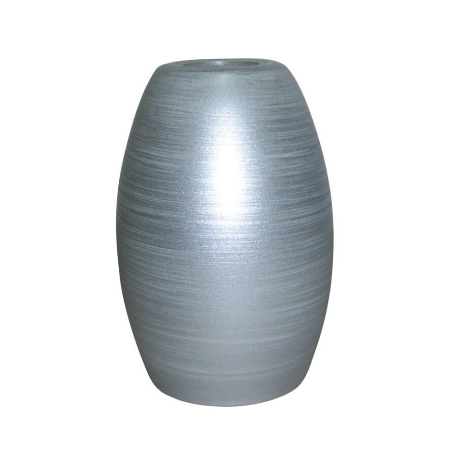 Portfolio 7.25-in H 4.75-in W Silver Swirl Art Glass Pendant Light Shade
