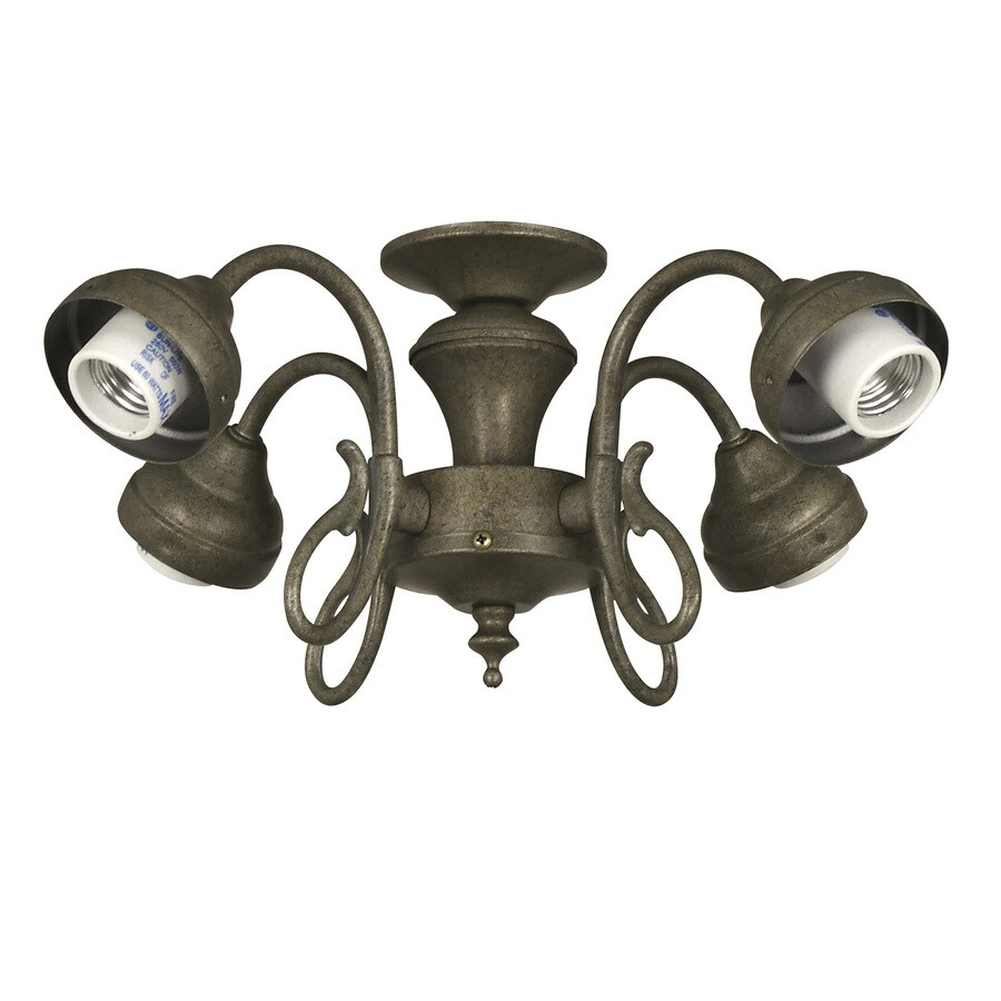 Harbor Breeze 4-Light Vintage Pewter Ceiling Fan Light Kit with Shade Not Included Glass or Shade